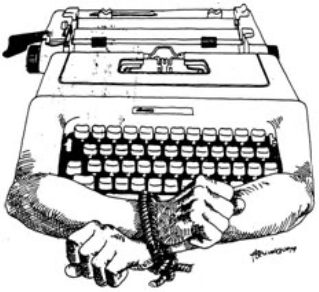 máquina de escrever censurada